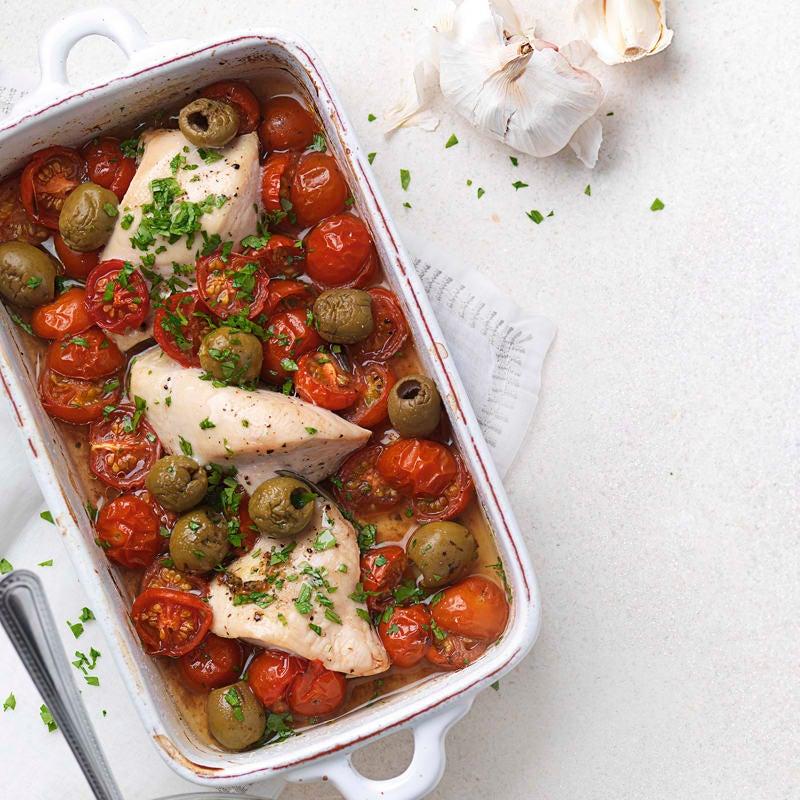 Foto Hähnchen-Olivenauflauf mit Tomaten von WW
