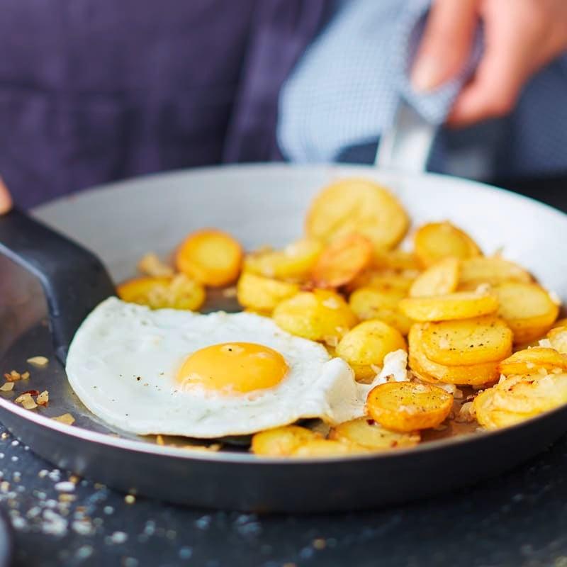 Foto Bratkartoffeln mit Spiegelei von WW