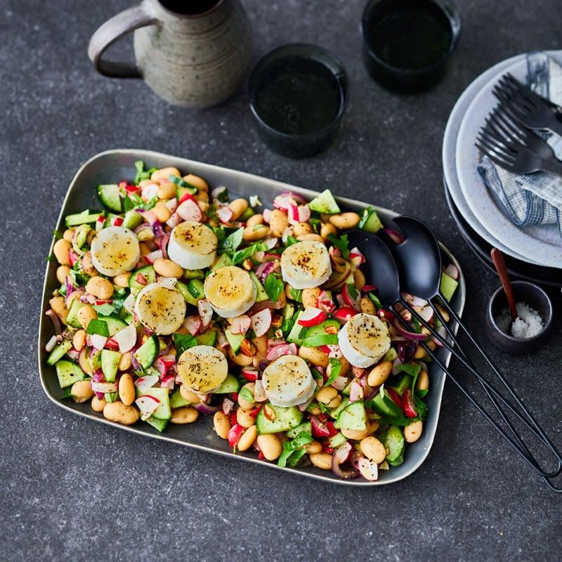 Foto Bohnen-Radieschen-Salat mit Ziegenkäse von WW