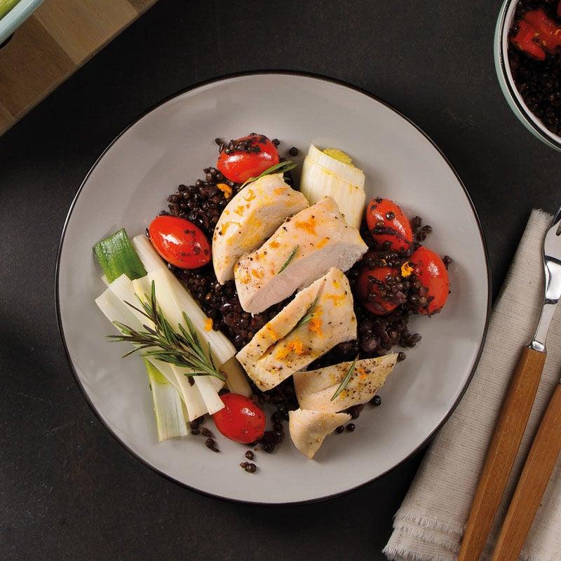 Foto Hähnchen und Lauch aus dem Ofen mit Linsensalat von WW