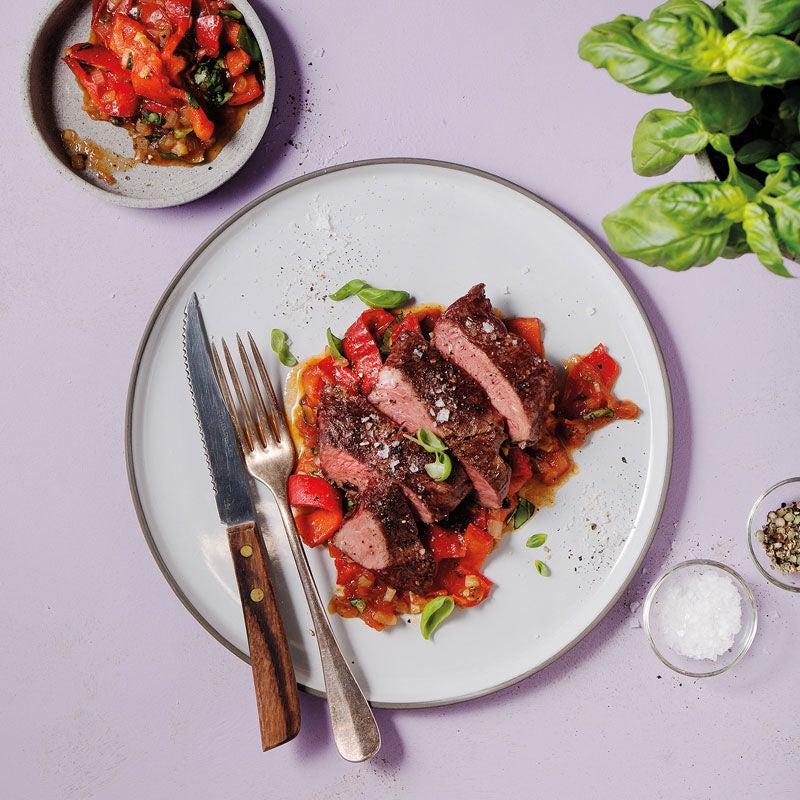 Foto Flat Iron Steak mit Peperonata von WW