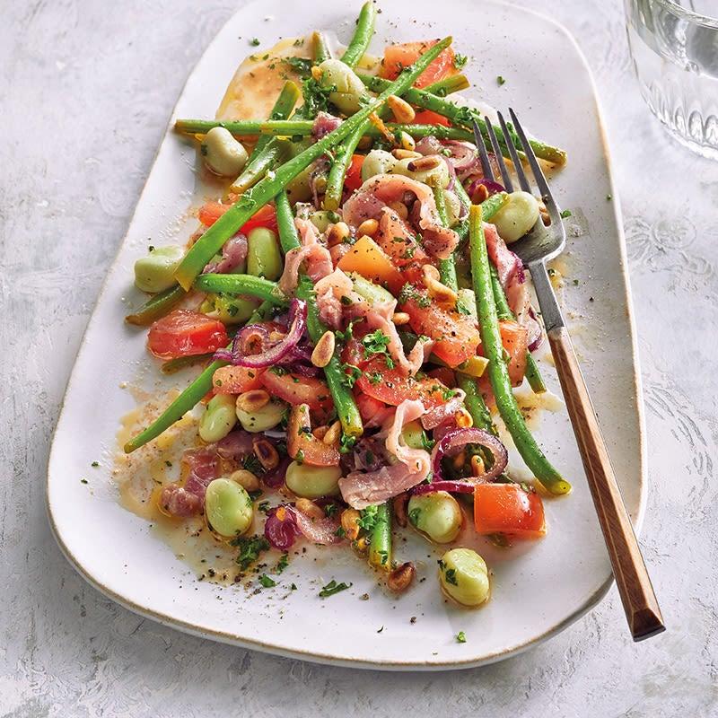 Foto Bohnen-Serranoschinken-Salat von WW
