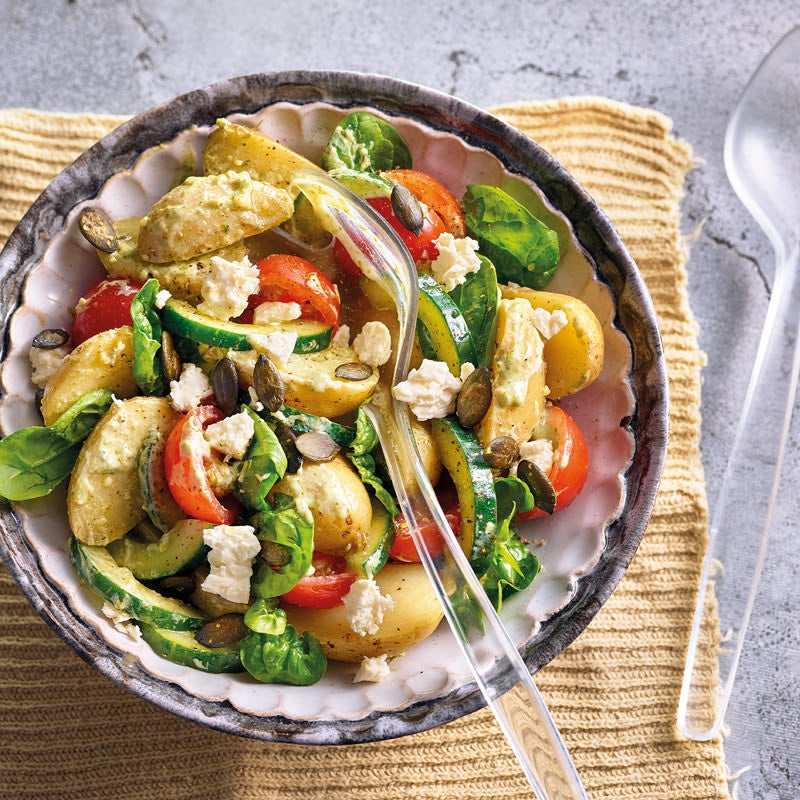 Foto Kartoffelsalat mit Pestodressing von WW