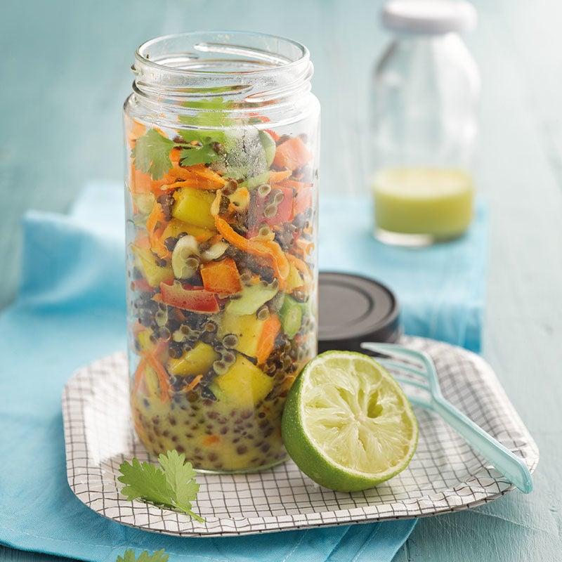 Foto Fruchtiger Curry-Belugalinsen-Salat von WW