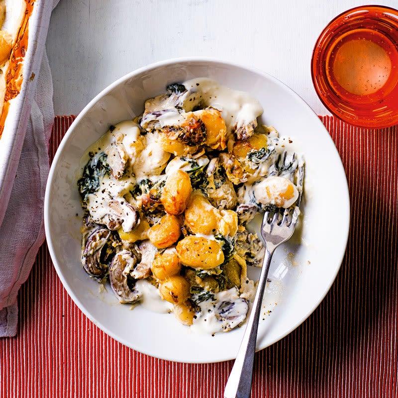 Foto Gnocchi-Spinat-Auflauf mit Pilzen von WW