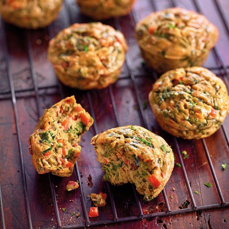 Foto Kräuter-Ei-Muffins mit Gemüse von WW
