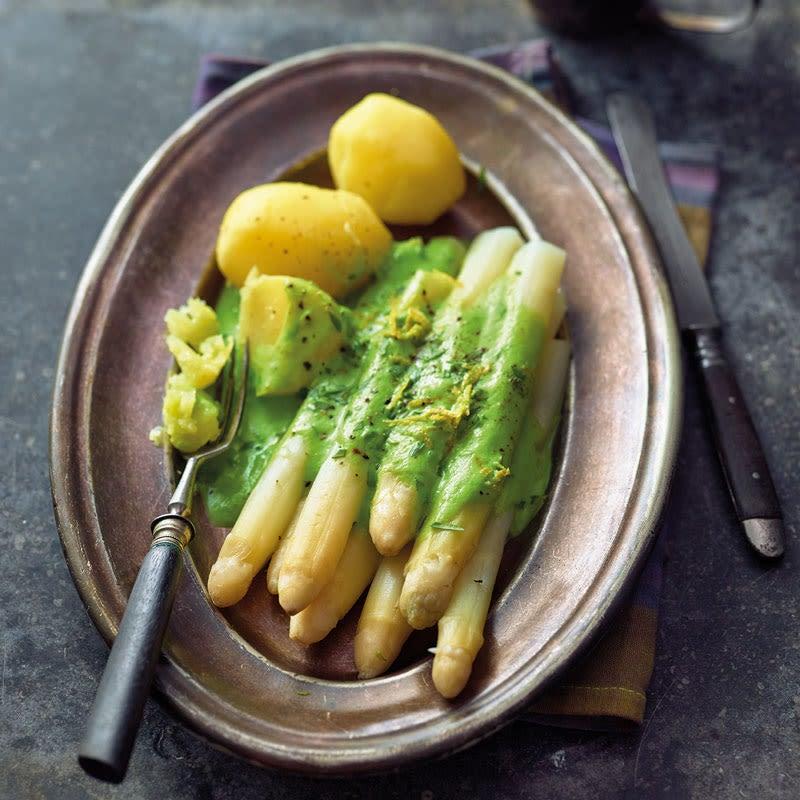 Foto Spargel mit Erbsen-Zitronen-Sauce von WW
