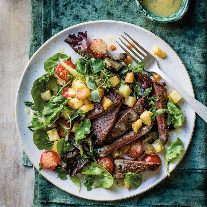 Foto Steak-Kartoffel-Salat mit Honig-Senf-Dressing von WW
