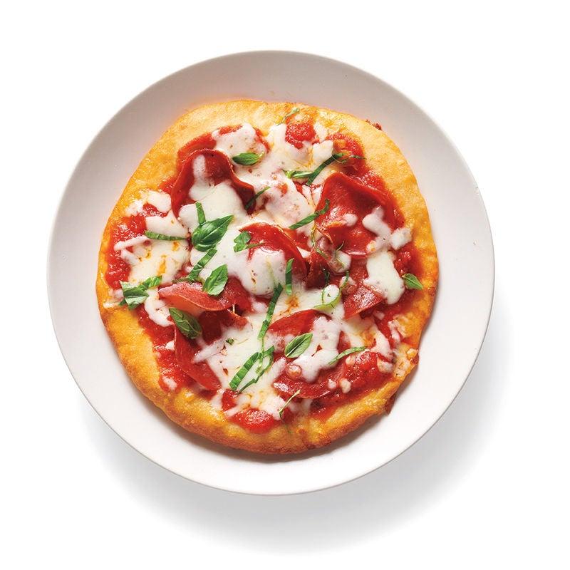 Foto Baukasten Pizza Salami und Basilikum von WW