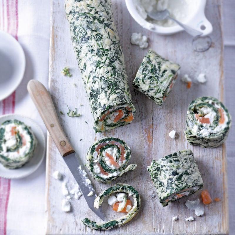 Foto Spinat-Käse-Röllchen mit Lachs von WW