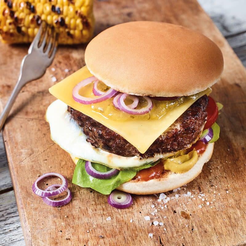 Foto Cheeseburger mit Ei von WW