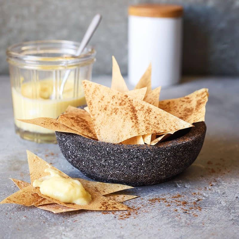 Foto Filo-Zimt-Chips mit Mangodip von WW