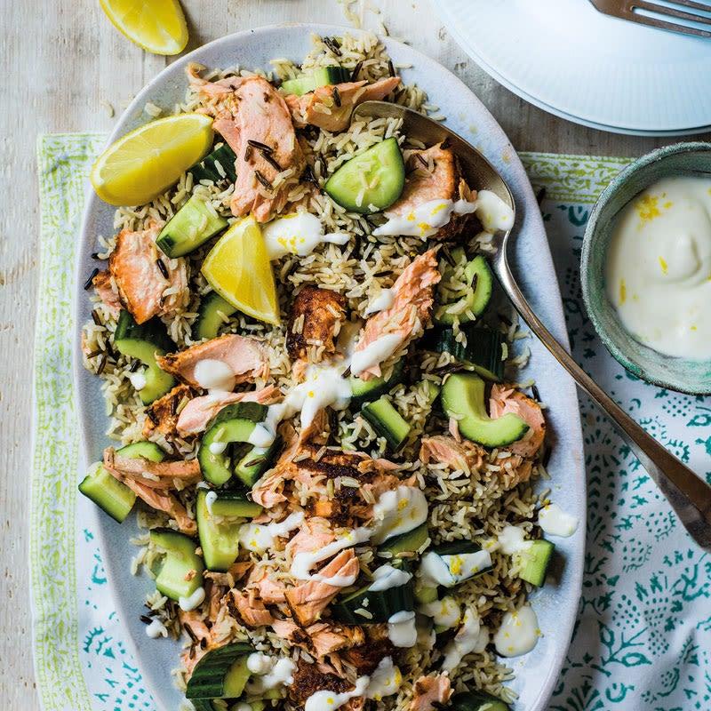 Foto Würziger Lachs-Reis-Salat von WW