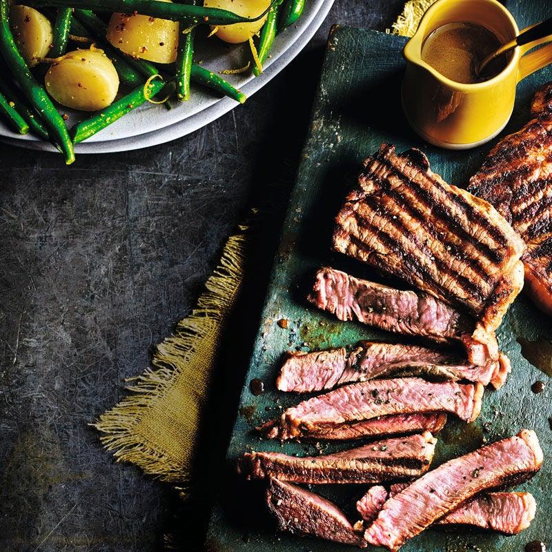 Foto Steak mit Bohnen-Kartoffelsalat von WW