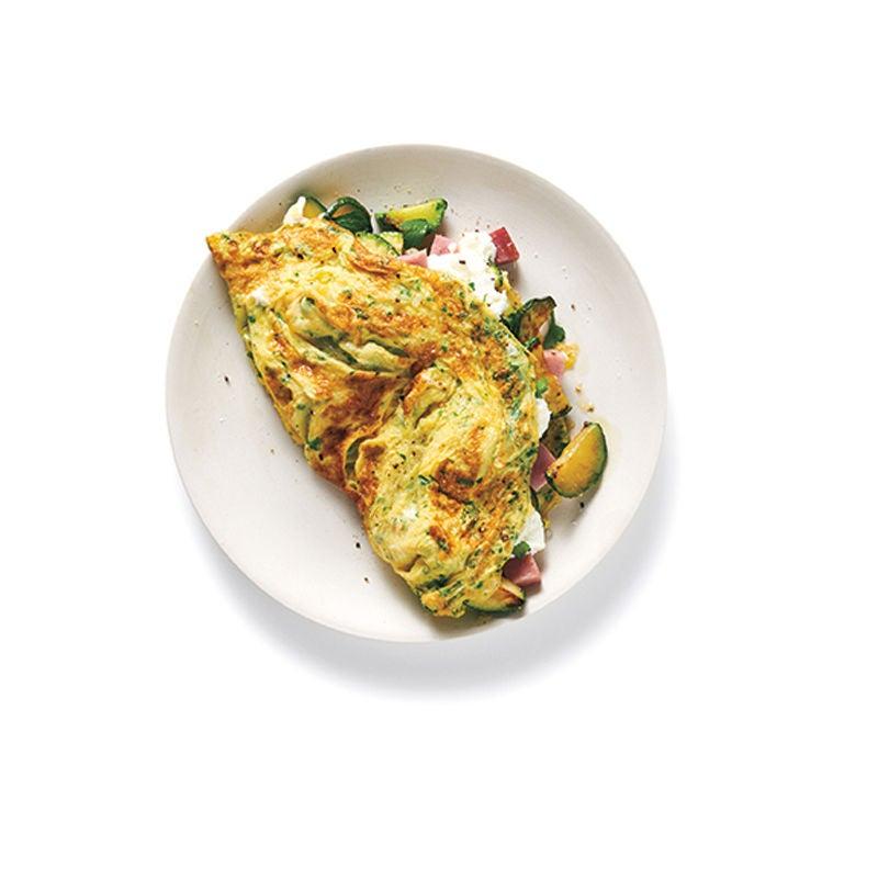 Foto Omelette Ziegenkäse mit Zucchini und Schinken von WW