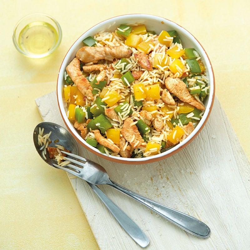 Foto Geflügel-Reis-Salat mit gebratener Paprika von WW
