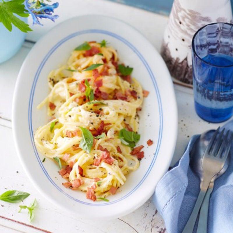 Foto Glutenfreie Spaghetti Carbonara von WW