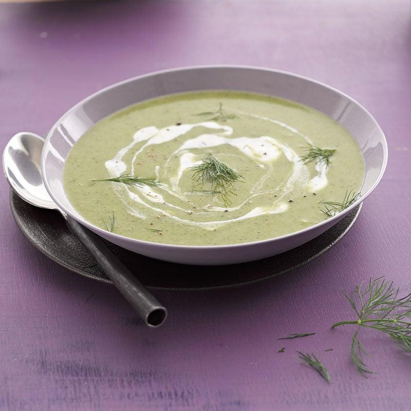 Foto Broccolisuppe mit Frischkäse von WW
