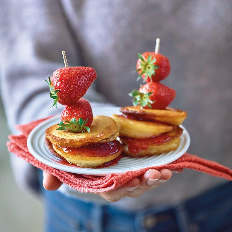 Foto Pancake-Spieße mit Erdbeeren von WW