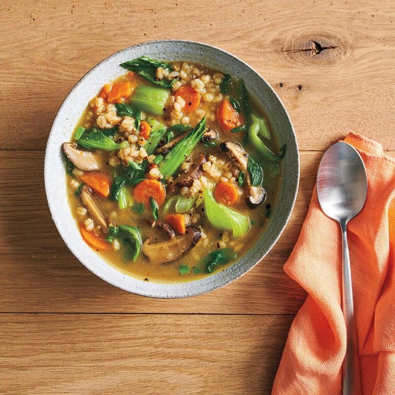 Foto Pilz-Graupen-Suppe mit Miso von WW