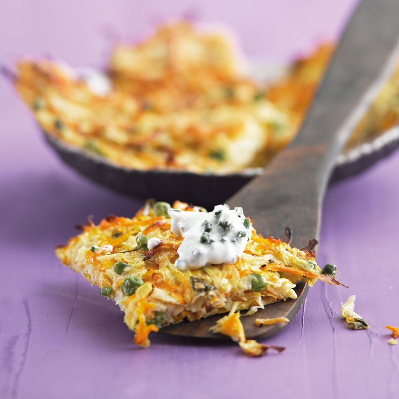 Foto Gemüserösti aus dem Ofen mit Schnittlauchquark von WW