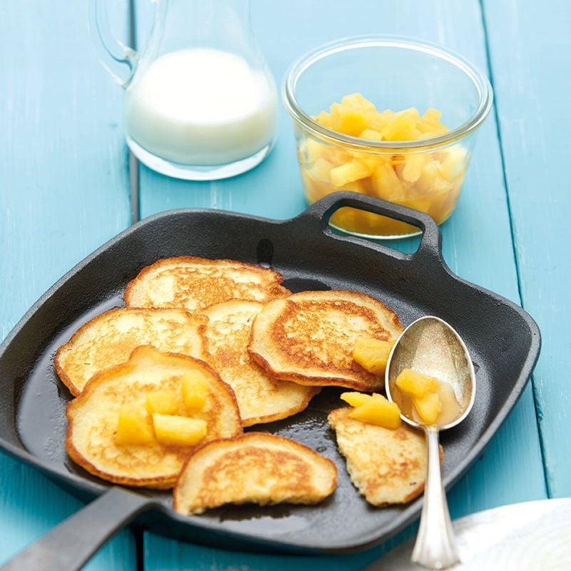 Foto Pancakes mit Ananaskompott von WW