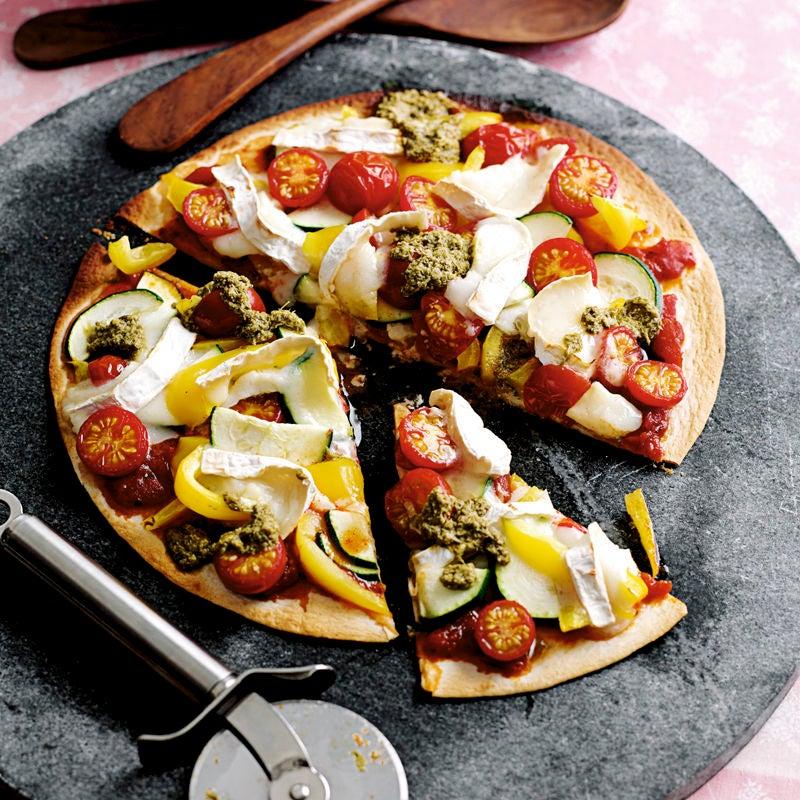Foto Blitz-Gemüsepizza mit Ziegenkäse von WW