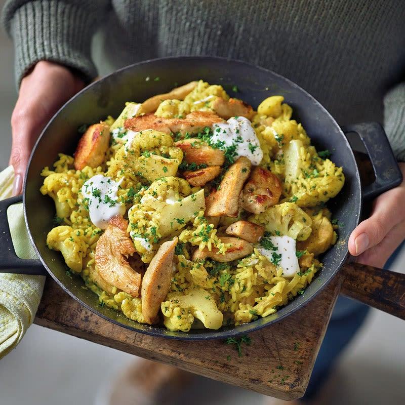 Foto Curry-Reis-Pfanne mit Hähnchenbrust von WW