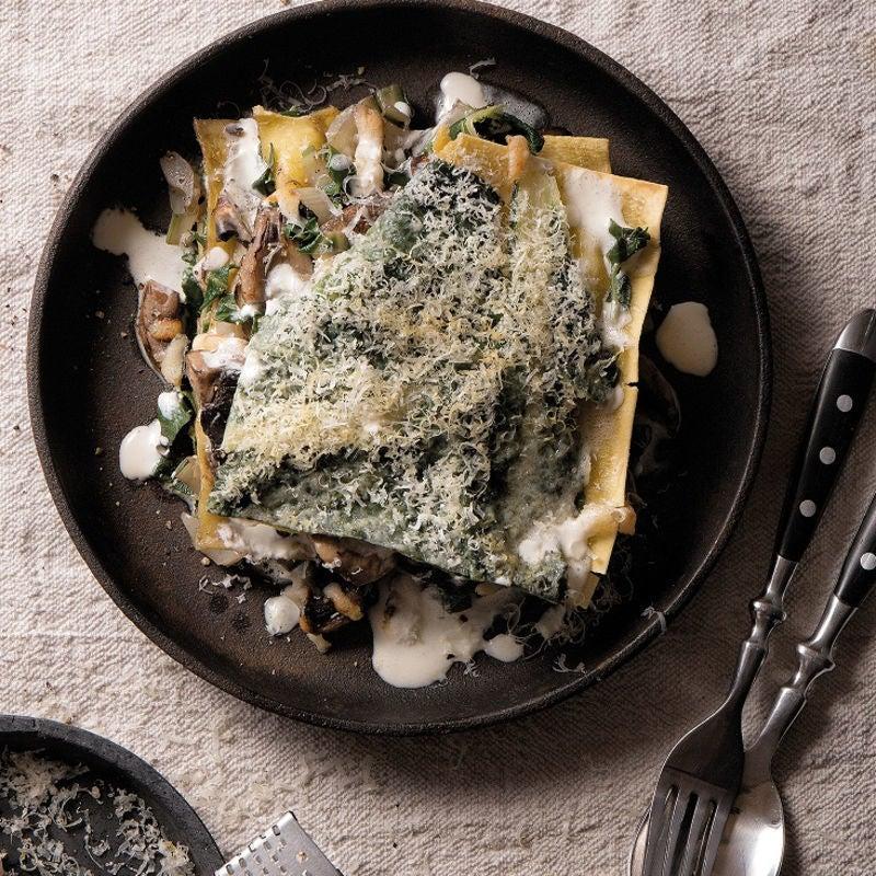 Foto Vegetarische Mangold-Champignon-Lasagne von WW