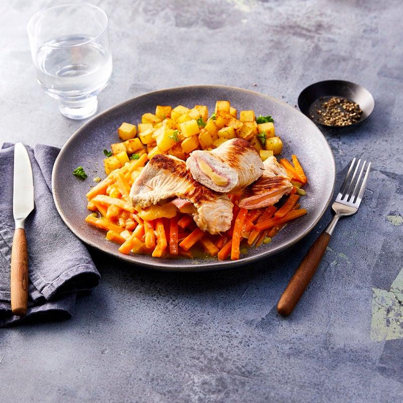 Foto Cordon bleu mit Karottengemüse von WW