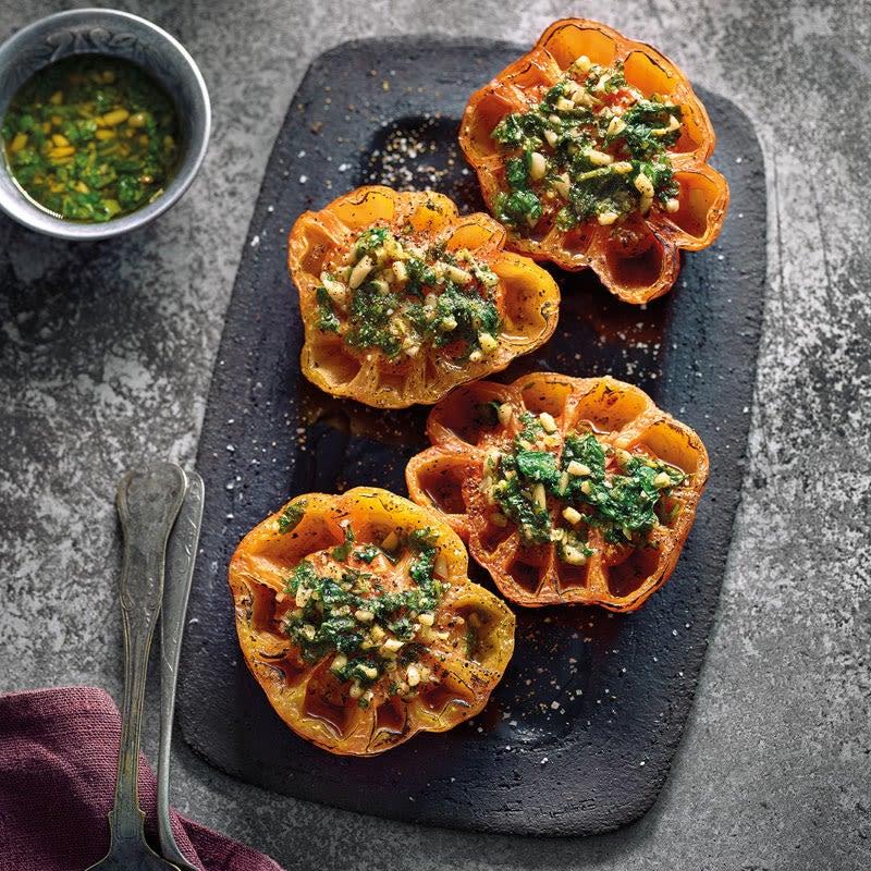Foto Gegrillte Tomaten mit Pinienkernen von WW