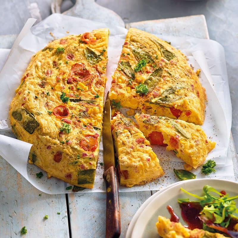 Foto Spätzle-Gemüse-Tortilla mit Schinken von WW