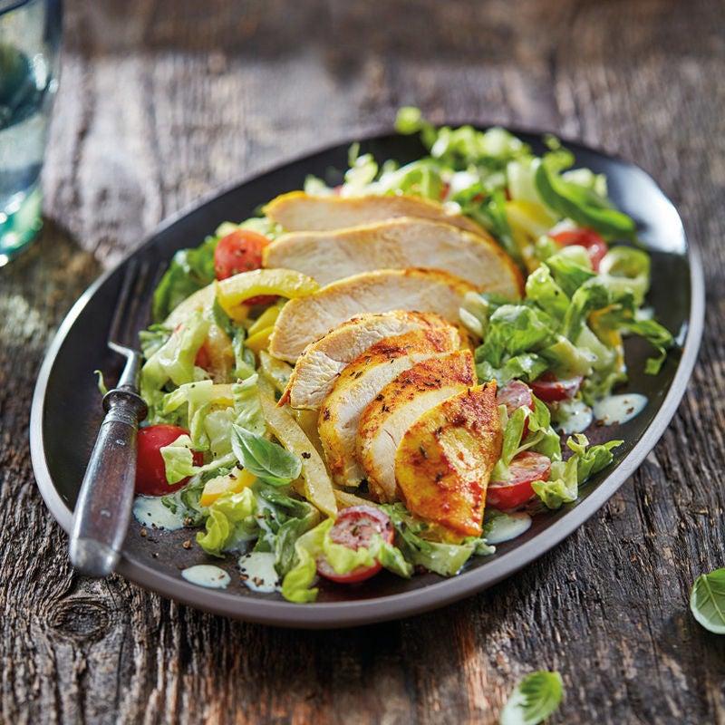 Foto Gewürzhähnchen aus dem Ofen mit Salat von WW