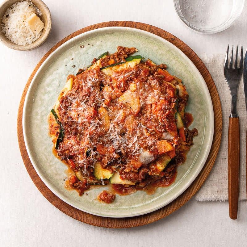 Foto Zucchini-Lasagne mit Petersilienwurzel und Parmesan von WW