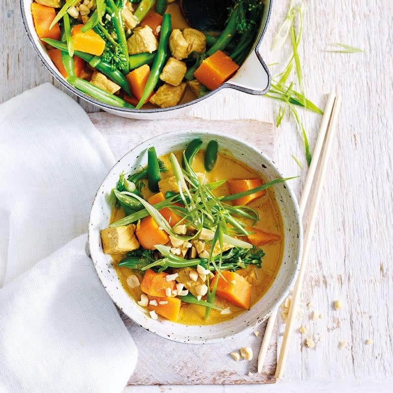 Foto Süßkartoffel-Bohnen-Curry mit Schweinefilet von WW