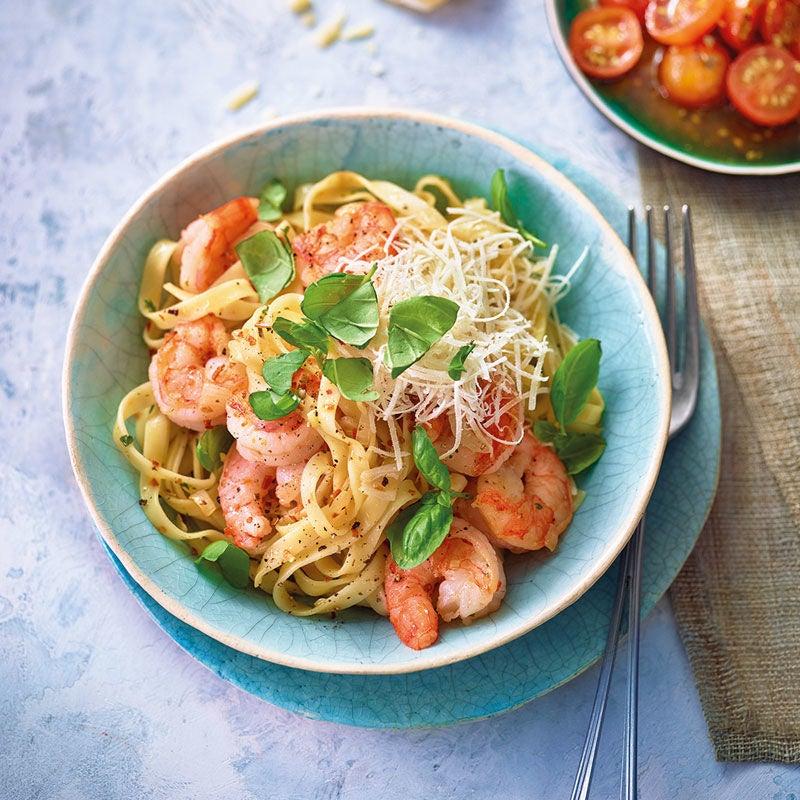 Foto Garnelen-Pasta aglio e olio von WW