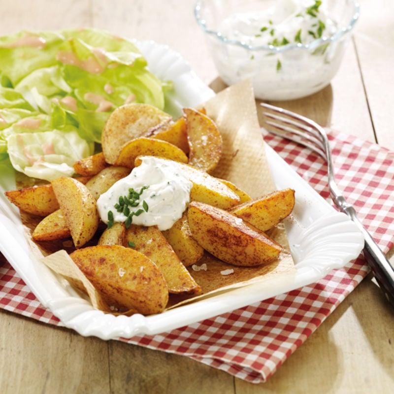Foto Potato Wedges mit Sour Cream von WW