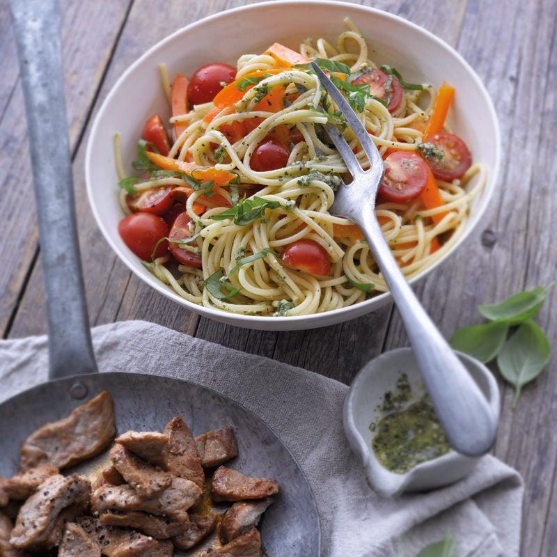 Foto Spaghettisalat mit Kalbsstreifen von WW