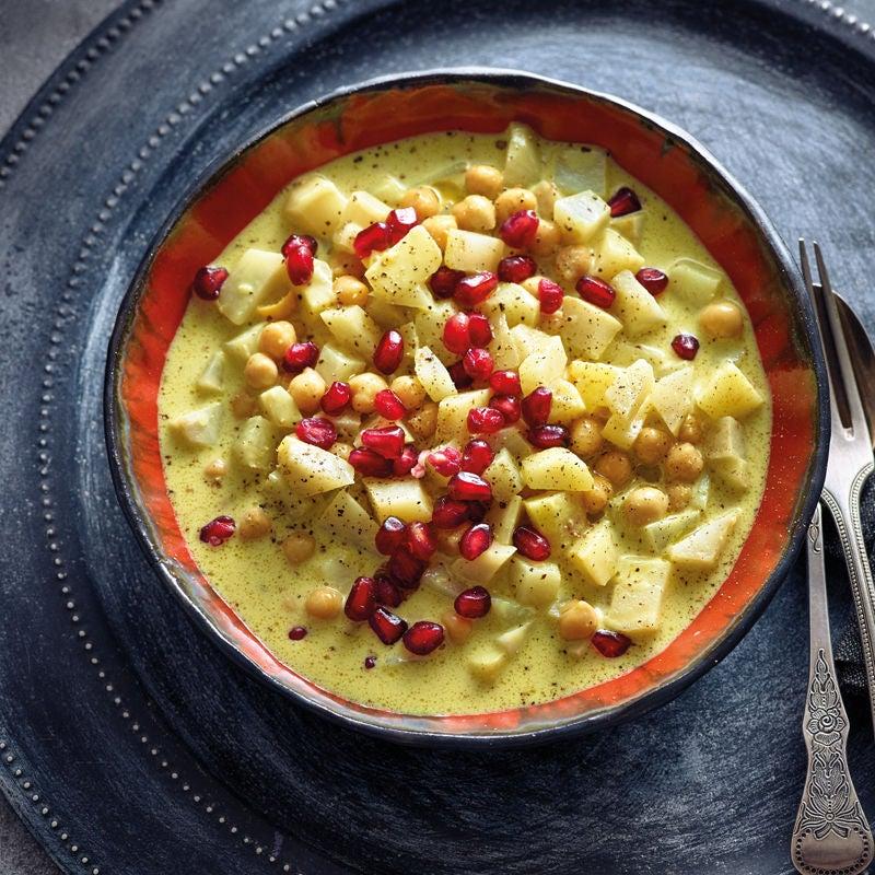 Foto Herbstliches Currygemüse mit Kichererbsen by Andi Schweiger von WW