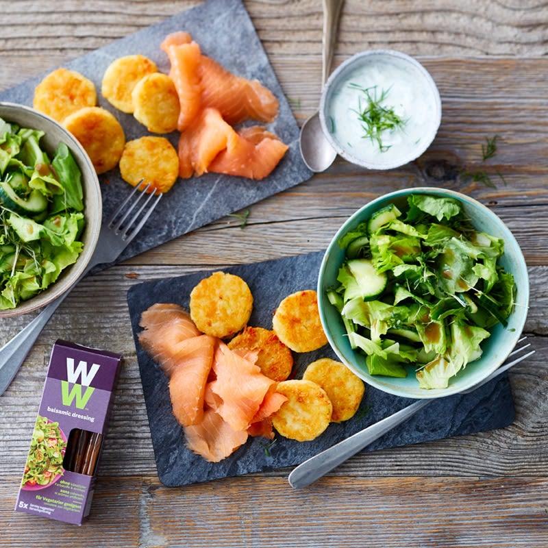 Foto Rösti mit Lachs und grünem Salat von WW