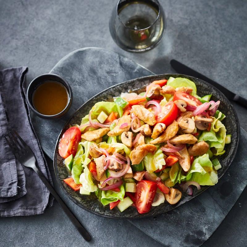 Foto Gemischter Salat mit Hähnchen von WW
