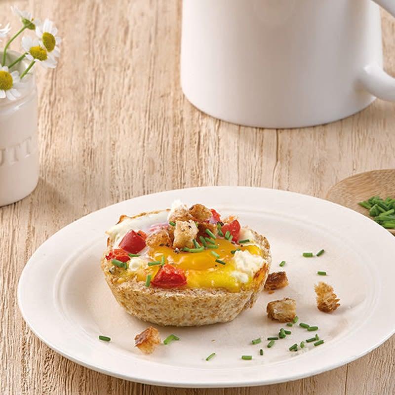 Foto Toastmuffins mit Ei und Schafskäse von WW