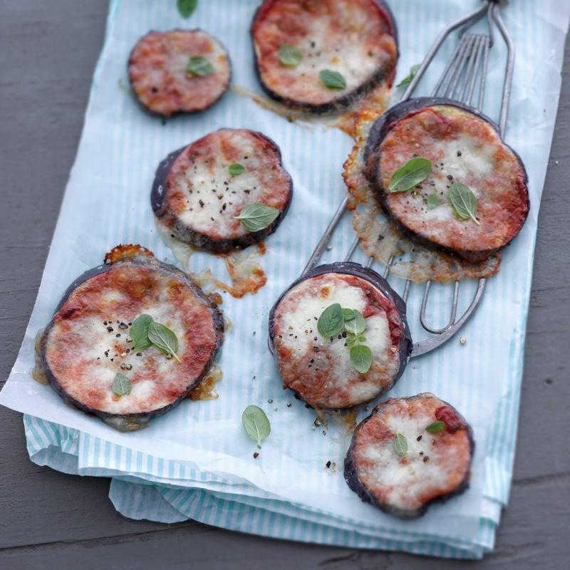 Foto Auberginen-Pizza-Häppchen von WW