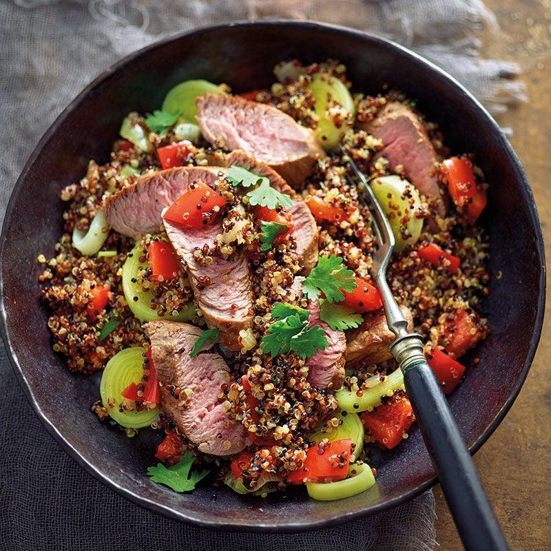 Foto Gebratene Quinoa mit Lammfilet von WW