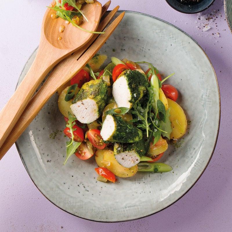 Foto Rucolahähnchen mit Kartoffelsalat von WW