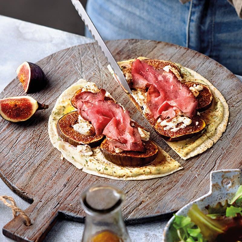 Foto Blitzpizza mit Feigen und Roastbeef von WW