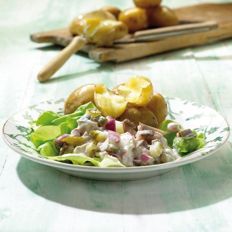 Foto Frühlingskartoffeln mit Matjesdip von WW