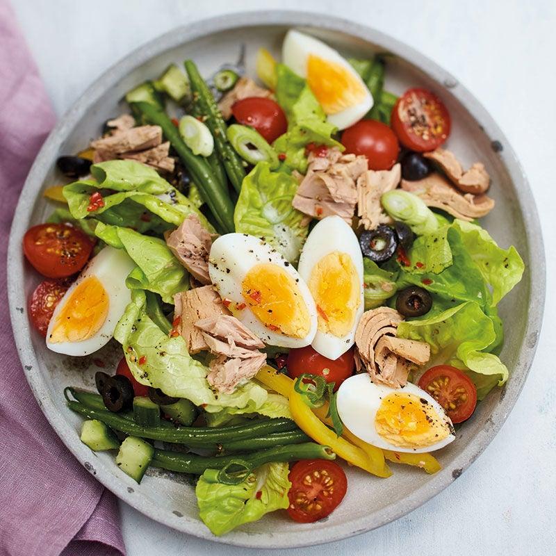 Foto Nizza-Salat mit Ei und Chili-Limetten-Dressing von WW