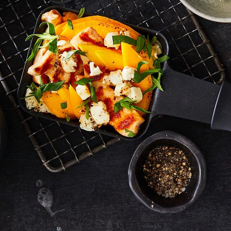 Foto Raclette mit Mango und Hähnchen von WW