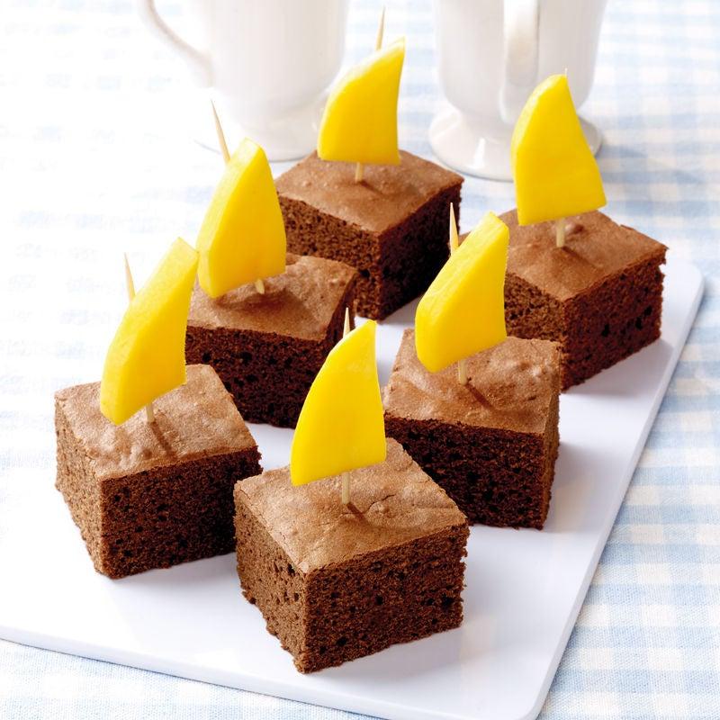 Foto Brownies mit Mangospießen von WW